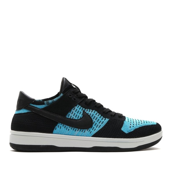 Nike Dunk Flyknit Schwarz/Blau-Weiß 917746-001