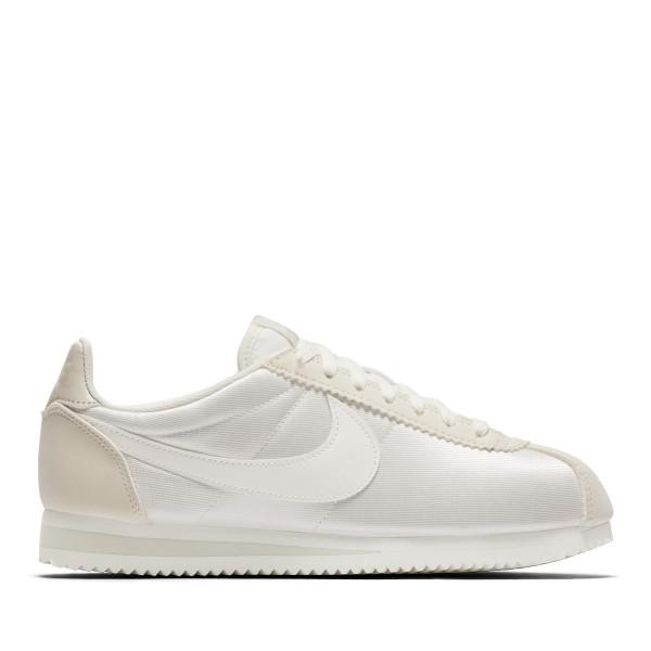 Nike Damen Klassisch Cortez Nylon Weiß/Weiß-Grau...