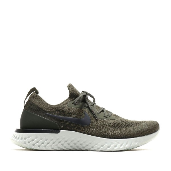 Nike Epic React Flyknit Olive/Schwarz-Orange-Silbe...