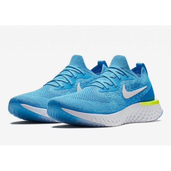 Nike Epic React Flyknit Blau/Blau/Gelb AQ0067-401