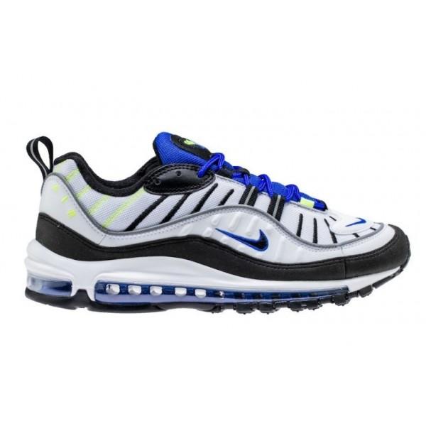 Nike Air Max 98 Herren Schuh Weiß/Schwarz/Blau 64...