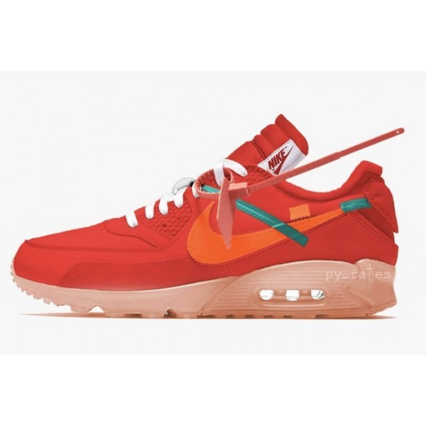 Off-White Nike Air Max 90 Rot AA7293-600