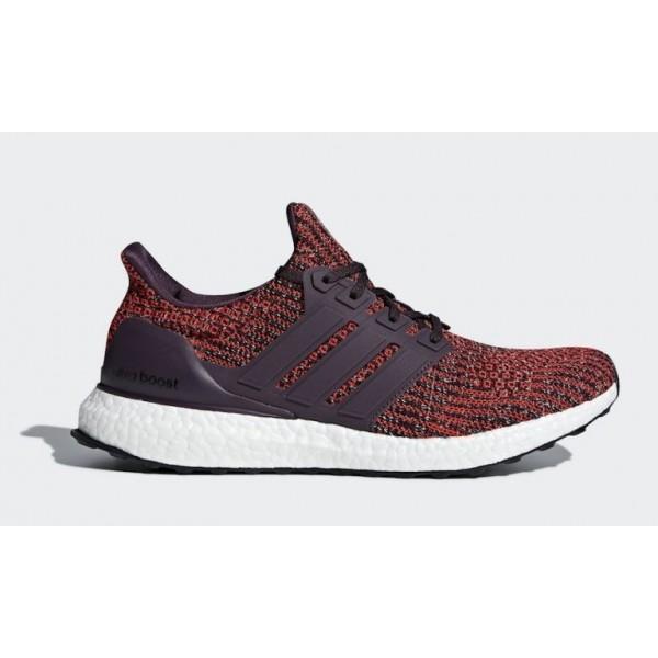 adidas Ultra Boost Herren Laufen Schuhe Rot/Schwar...
