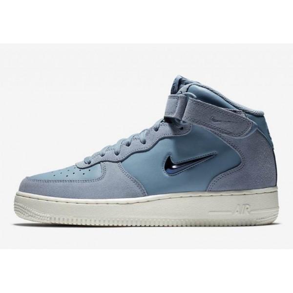 Nike Air Force 1 Mid Jewel Blau/Weiß 804609-402