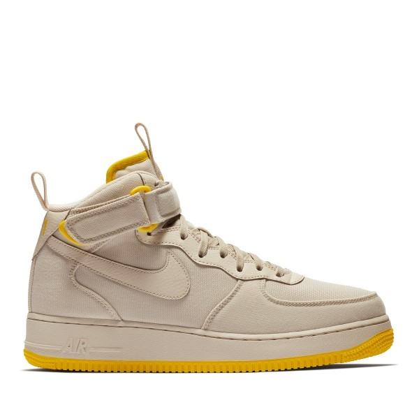 Nike Air Force 1 Mid '07 Canvas Grau/Grau-Gelb ah6...