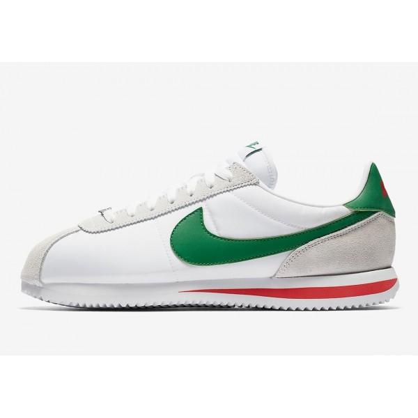 Nike Klassisch Nylon Cortez Herren Lebensstil Schuh Weiß 819720-103