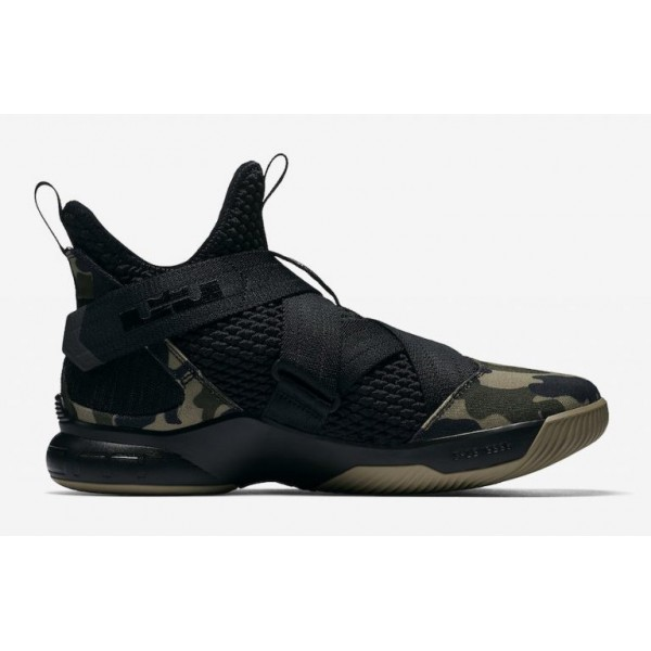 Nike Lebron Soldier 12 SFG Camo Herren Schwarz Haz...