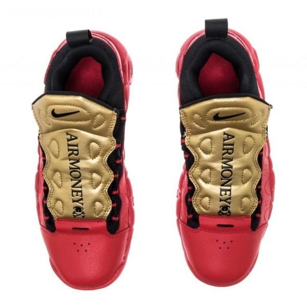 Nike Air More Money Rot Metallisch Gold AH5215-600