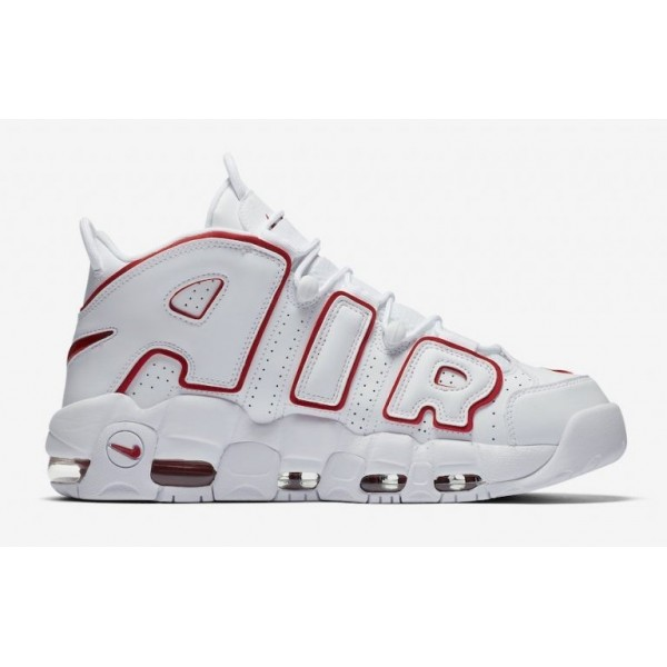 Nike Air More Uptempo Weiß/Rot-Weiß 921948-102