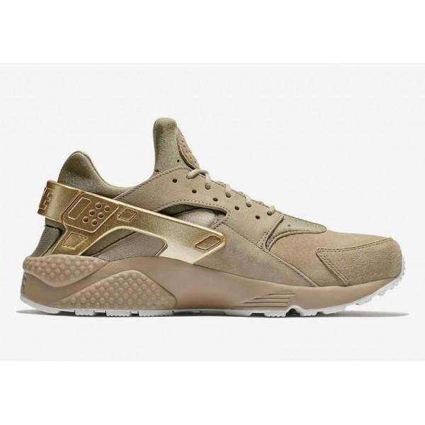 Nike Air Huarache Premium Herren Metallisch Gold 7...