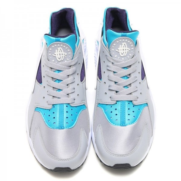 Nike Air Huarache Grau/Weiß-Aquatone-Lila-Schwarz-Weiß 318429-024