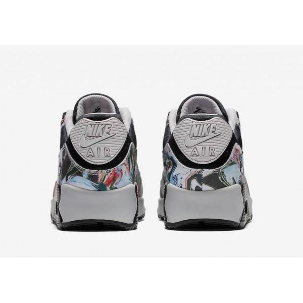 Damen Nike Air Max 90 Marble Schwarz Grau AO1521-001