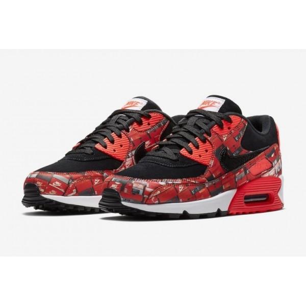 atmos x Nike Air Max 90 Print We Love AQ0926-001