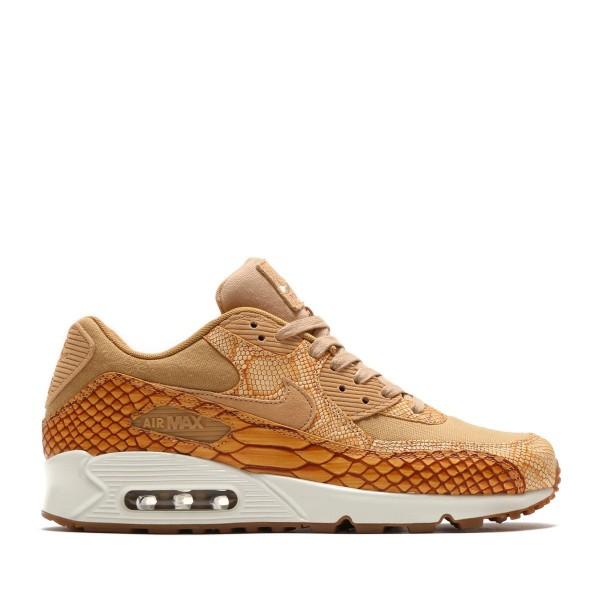 Nike Air Max 90 Premium Ltr Braun/Braun-Gold ah804...